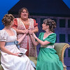 Anastasia Davidson, Leslie O'Carroll, and Candace Joice in BETC's regional premiere of Jane Austen's Pride and Prejudice by Kate Hamill (photography: Michael Ensminger)