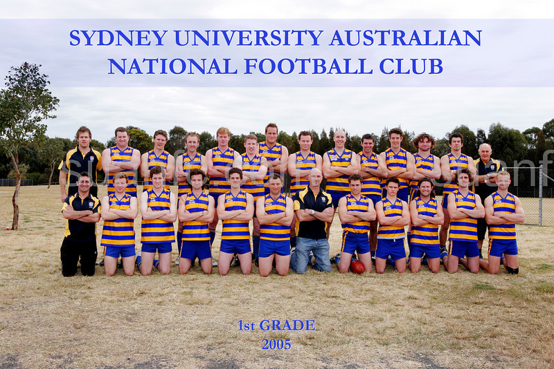 Back Row: Jason McLennan (President), William Honner, Joel Carr, Leigh McWhirter, Hugh Howie, William Granger,<br /> Matthew Wakelin, Jeremy Dwyer, Simon Nash, Ash Peck, Nicholas Cain, Frank Punch, Aaron Crespi, Harvey Gordon (Trainer)<br /> Front Row: Tony Malakellis (Assistant Coach), Anthony Pattison, Michael Healy, Andrew Congdon, Matthew Leibowitz, Ben White,<br /> Roger Delaney (Coach), Luke Higgins (Captain), Michael Higgins, Greg O'Connor, Luke Taylor, Sean McGrath