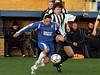 <CENTER>Josh Simpson tussles for possession</CENTER>