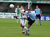 <CENTER>Lee Roache hits the ball long</CENTER>
