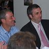 <CENTER>Pete Lindsay and James Saddington enjoy Trevor's wit</CENTER>