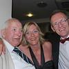 <CENTER>Lifelong City fan Harold Warne with Gary and Nicola Grogan</CENTER>