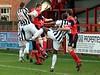 <CENTER>Dave Theobald and Luke Medley put the Droylsden defence under pressure</CENTER>