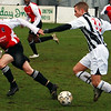 <CENTER>Ash Fuller menaces the Maidenhead defence</CENTER>