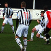 <CENTER>Craig Radcliffe clears from Maidenhead's Tyron Sealey</CENTER>