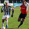 <CENTER>Joe Bruce puts ex-City player Carl Wilson-Denis under pressure</CENTER>