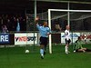 <CENTER>Get in - Neil Midgley and the City fans behind the goal celebrate</CENTER>
