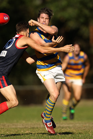 SYDNEY, AUSTRALIA - May 08: Sydney University Students (16.14-110) defeat the Pennant Hills Demons (8.18-66) in Round 5 of the AFL Sydney Premier Division Competition at Ern Holmes Oval on Saturday May 08, 2010 in Sydney, Australia. (Photo by Michael Vettas/SAFLPhotos.com.au)