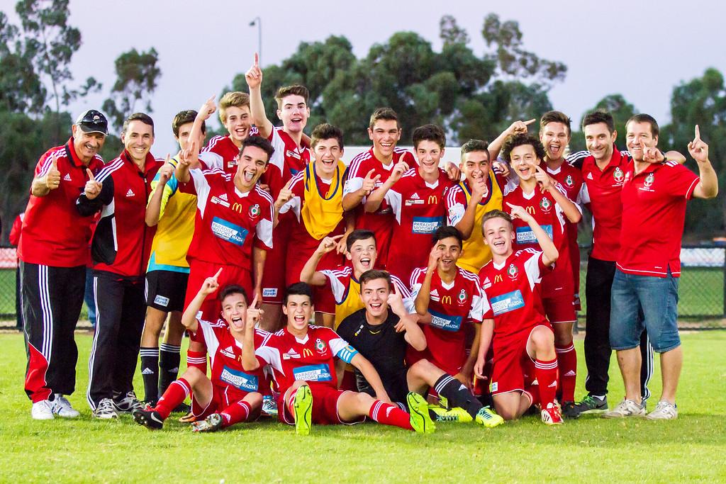 Congratulations boys!! Next stop - Sydney!