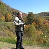 ADV Old Skool Fall Rally: Mike Waraksa taking in the fall colors on the Cherohala