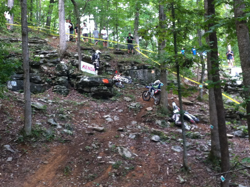 Kenda Tennessee Knockout - this is the hill behind the cabins at the TTC. This corner collected a lot of bikes.