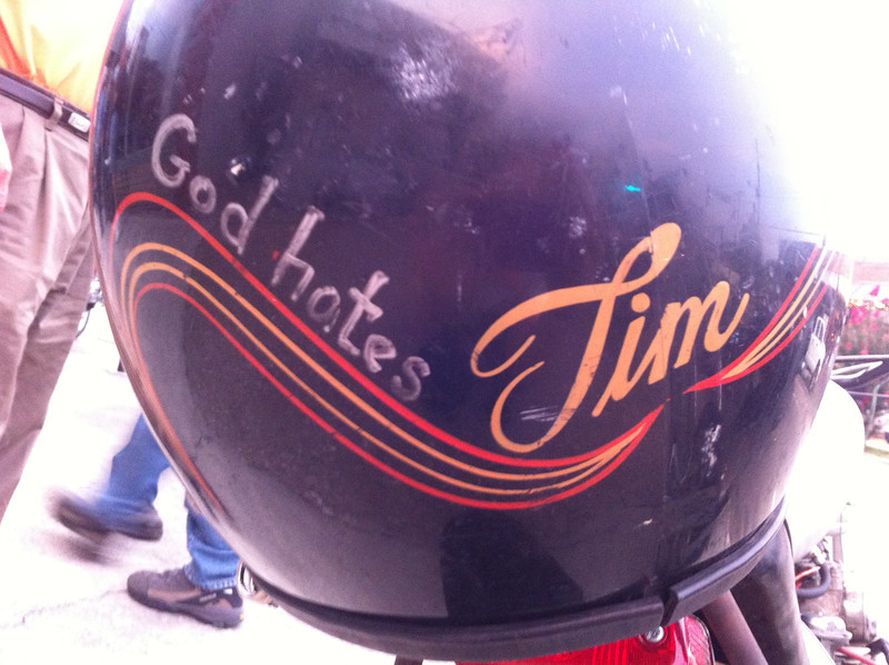 Mike Fairman's helmet.
