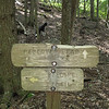 09/10 - This was the sign at Yellowhammer Gap. We made this our turning-around point.