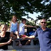Kirsten and Andrew, with kids Evie and Sam.