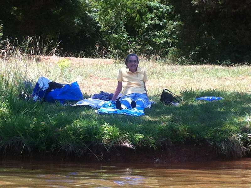 Mom on the bank of Tellico Lake, 06/17/12