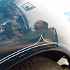 Richard Webb's birthday party, 05/27/12. Francois in the reflection of a vintage car.