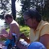 Mom & Alvin on the bank of Tellico Lake, 06/27/12
