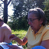 Mom & Alvin enjoying the day at Tellico Lake, 06/27/12