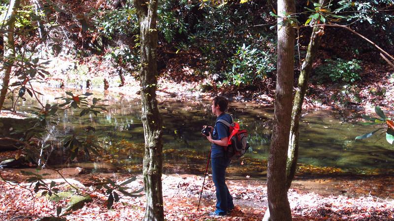 Julie Predny on Slickrock Creek Trail, 10/24/11.