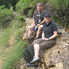 Kenny and I pause for a snack on the way up. Alum Cave Trail, GSM NP.