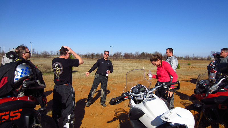 Ross, the lead instructor, trying to explain something about peg weighting. I don't think it's as dire as the guy in the black t-shirt believes. 12/10/11 at BMW Performance Center.