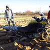 One of the more butt-clenchingly challenging exercises was navigating bottomless sand. Blair, an instructor, intentionally buried his bike in order to demonstrate the technique for freeing it. 12/10/11 at BMW Performance Center.