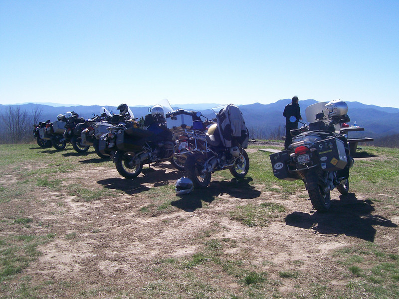 The usual suspects lined up on Buck Bald, 02/26/12. Jim Wishart's picture.