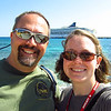 Cruise 2012: the happy couple in Costa Maya