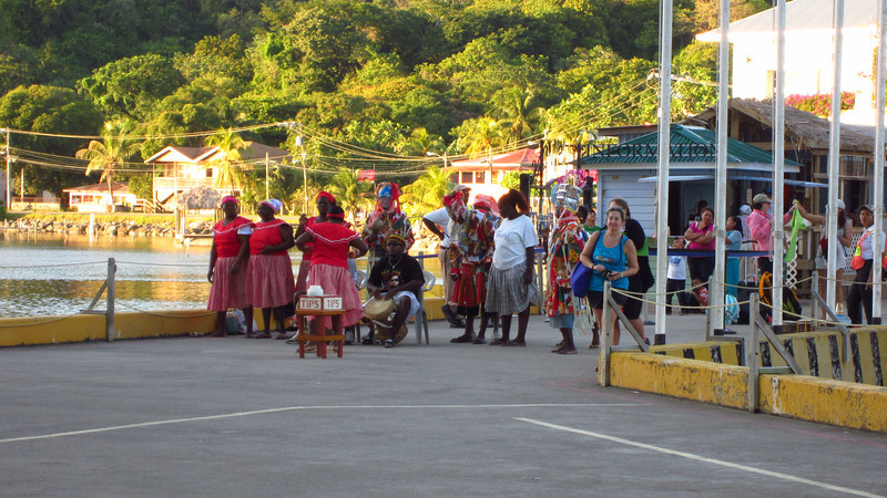 Cruise 2012: native singers and dancers greeted our ship in Belize City.