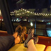 Cruise 2012: Feet up on the cruise ship as we wait to get under way in Port of New Orleans