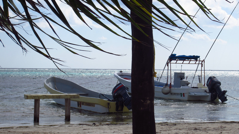 Cruise 2012: boats at anchor, Costa Maya, MX