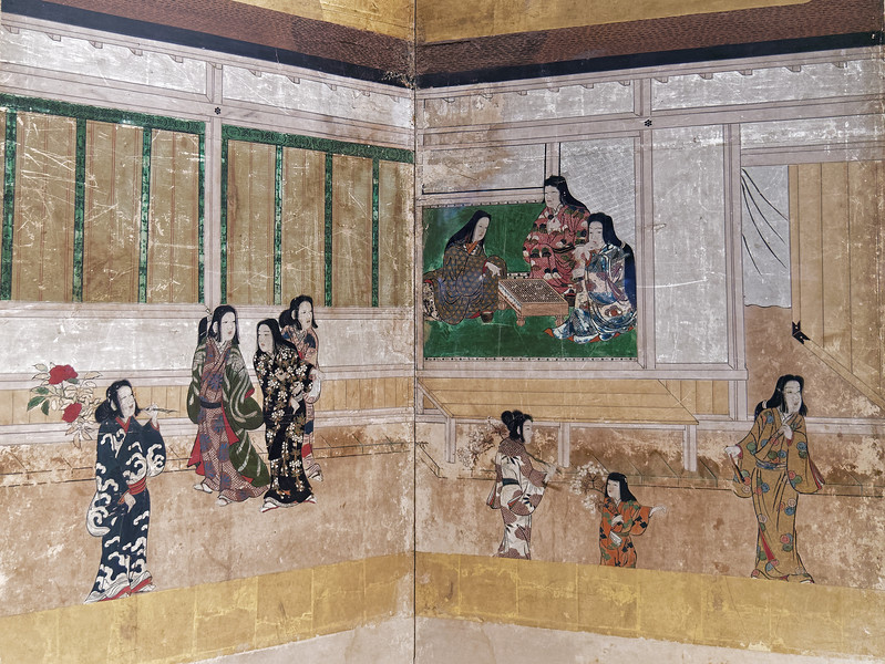Folding screen detail
