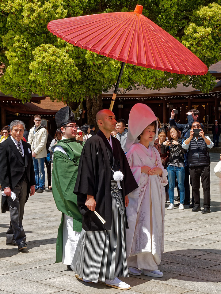 The shrine is also a popular place for Shinto weddings.