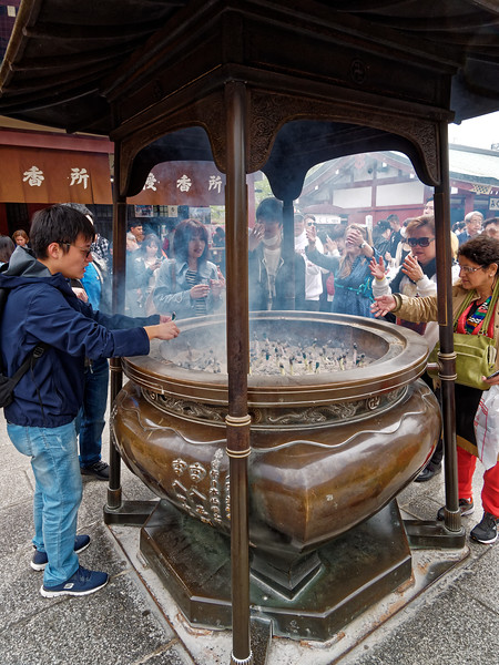 Visitors can light incense sticks and pray or make wishes.
