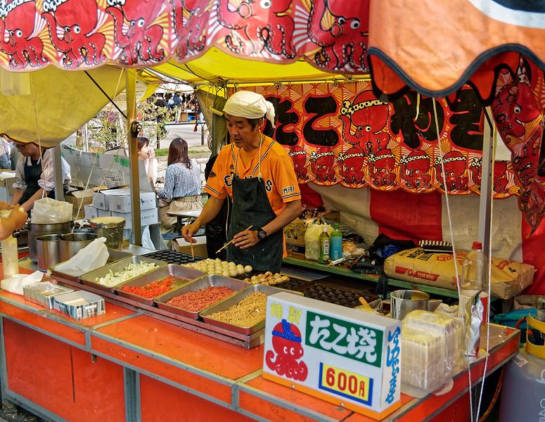 Street food stall, Taito, Tokyo
