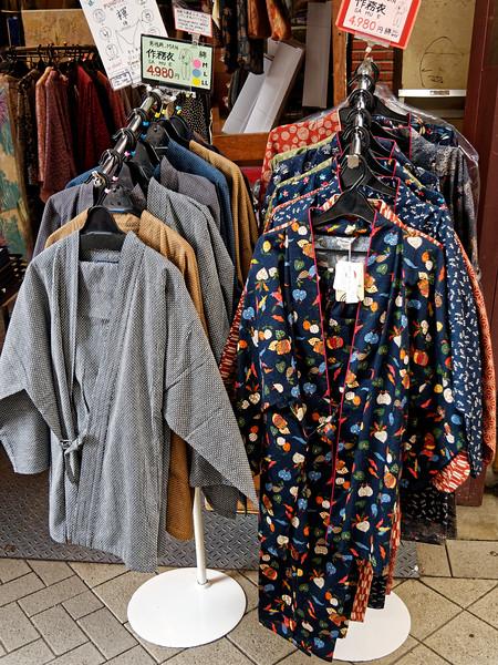 Clothing store sidewalk display, Asakusa, Tokyo