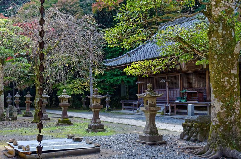 Buddhist temple inside the park