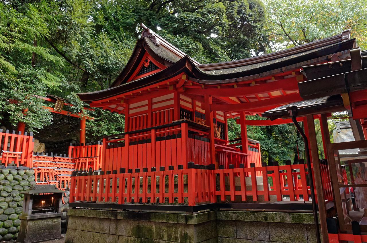The inner shrine area within the larger shrine itself