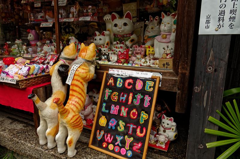 Window shopping in Higashiyama