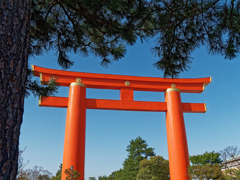 The shrine's torii is one of Japan's largest.