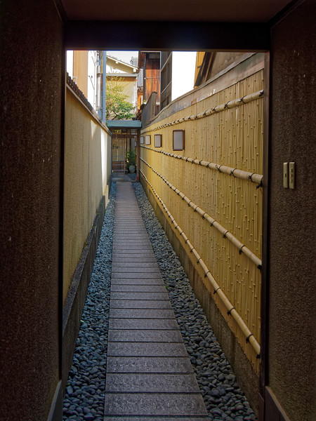Residential alleyway in the Gion District