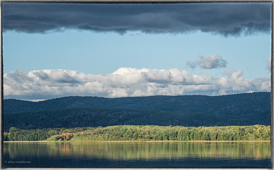 Quebec Shore and Gatineau Hills Over the Ottawa River