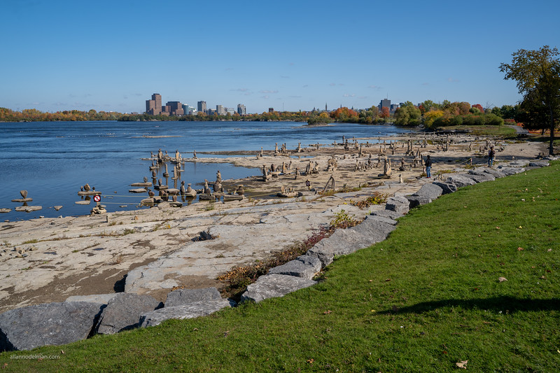 John Ceprano's Rock Sculptures Ottawa River