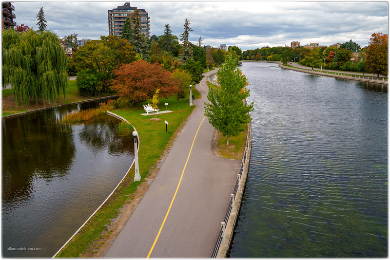 Looking North From the Flora Footbridge