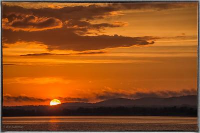 Sun Setting Over Gatineau Hills