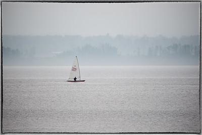 Sailing On a Foggy Ottawa River