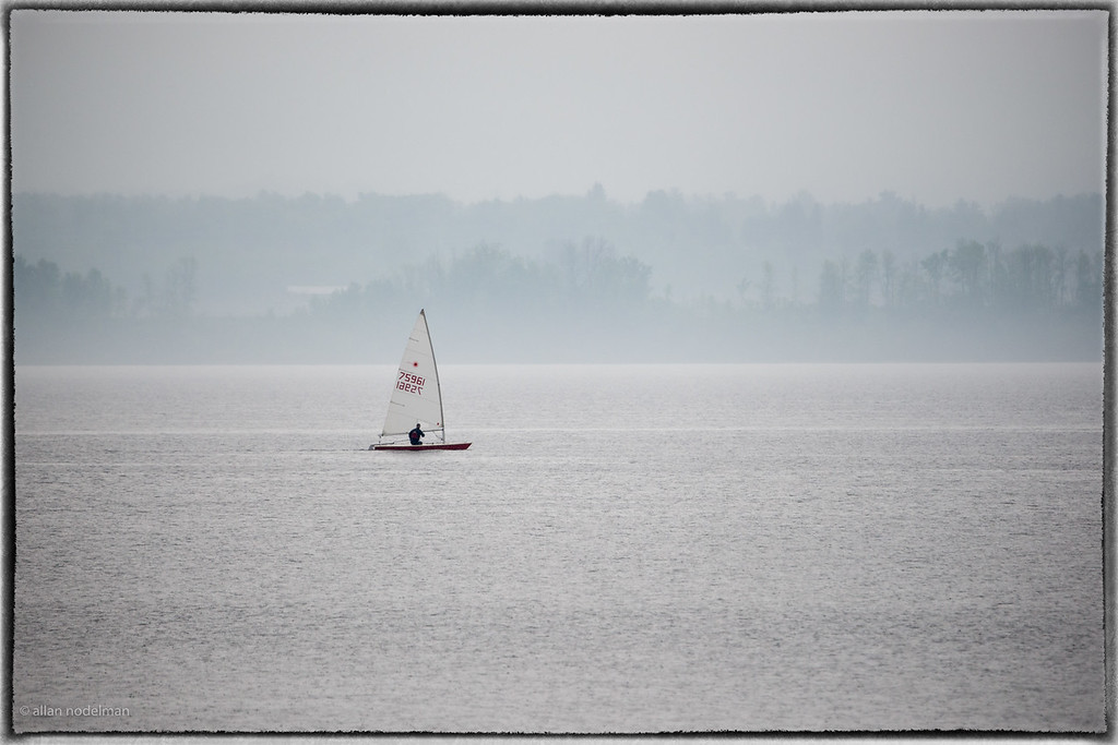 Sailing On a Foggy Ottawa River