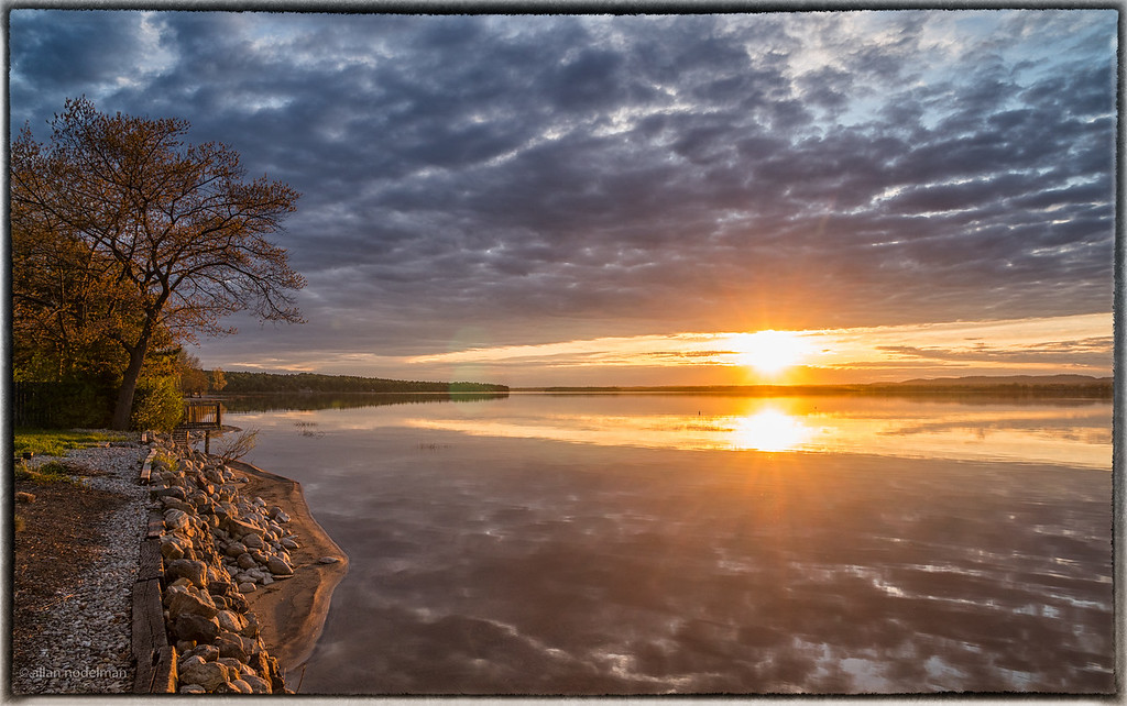 Double Sunburst at Sunset
