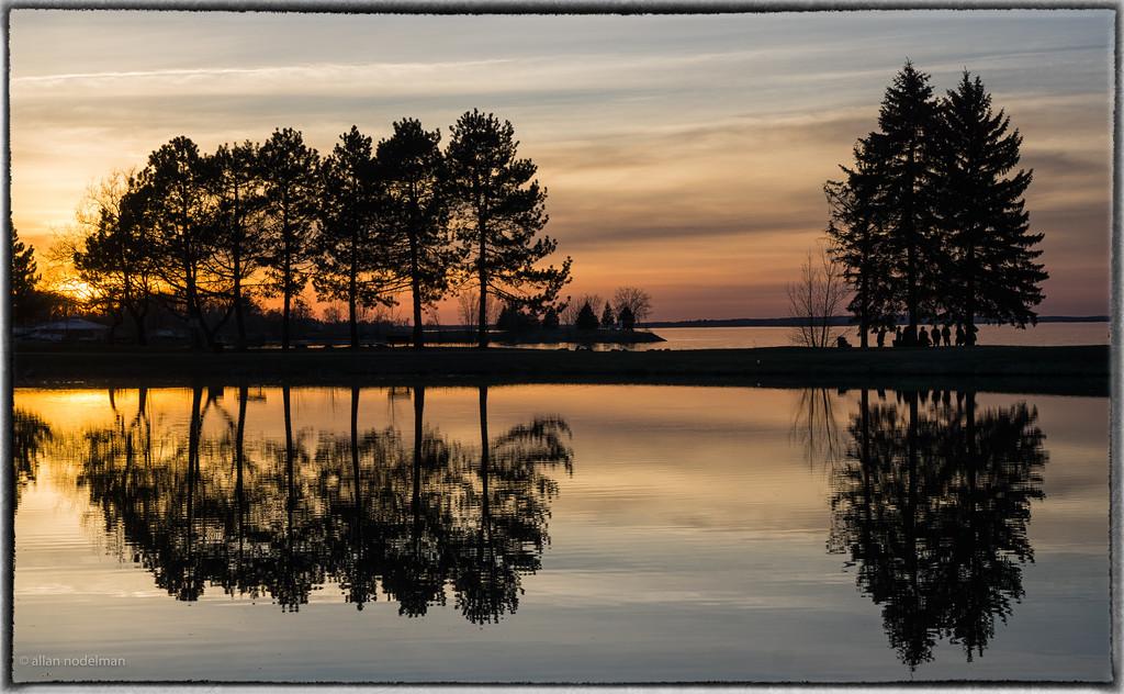 Andrew Hayden Park Ottawa at Sunset