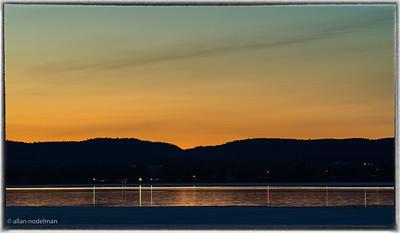 Sunset Over Gatineau Hills Ottawa River